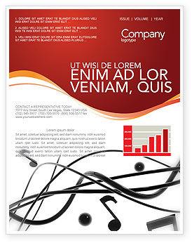 Music Newsletter Template, 02687, Art & Entertainment — PoweredTemplate.com