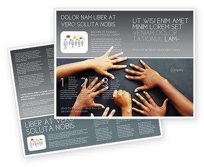 Diversity Brochure Template, 02689, Religious/Spiritual — PoweredTemplate.com