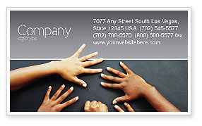 Religious/Spiritual: Diversity Business Card Template #02689