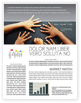 Diversity Newsletter Template, 02689, Religious/Spiritual — PoweredTemplate.com