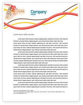 Telecommunication: Templat Kop Surat Kabel Patch Ethernet #02692