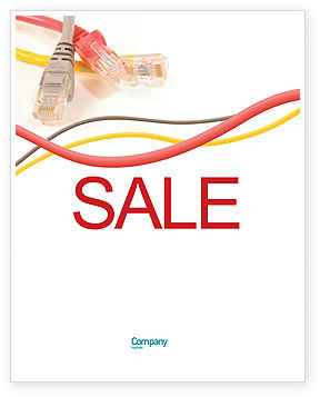 Ethernet Patch Cord Sale Poster Template, 02692, Telecommunication — PoweredTemplate.com