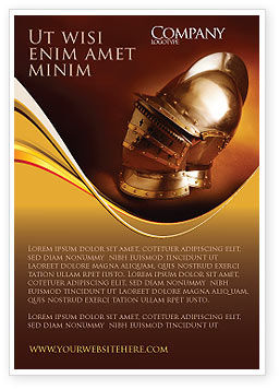 Knight's Helmet Ad Template, 02695, Art & Entertainment — PoweredTemplate.com