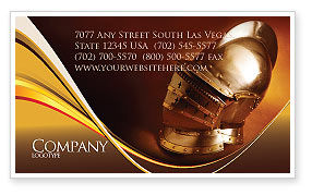 Art & Entertainment: Knight's Helmet Business Card Template #02695