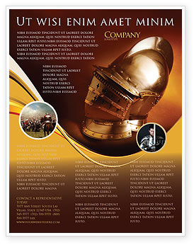 Art & Entertainment: Knight's Helmet Flyer Template #02695
