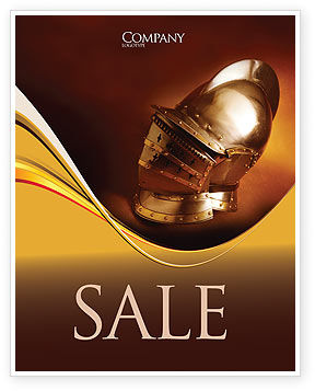 Knight's Helmet Sale Poster Template, 02695, Art & Entertainment — PoweredTemplate.com