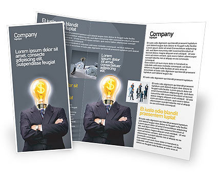 Business Concepts: Plantilla de folleto - ganar dinero #02696