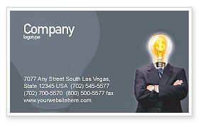Business Concepts: Make Money Business Card Template #02696