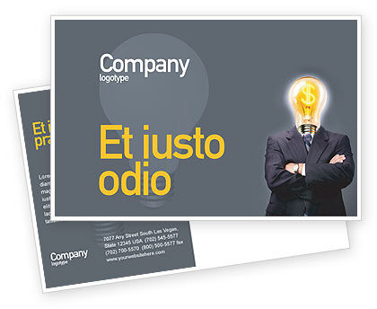 Business Concepts: Make Money Postcard Template #02696