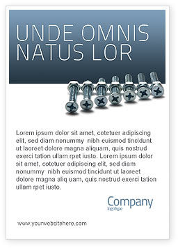 Utilities/Industrial: Screw-Nut and Bolt Ad Template #02703