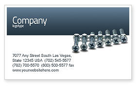 Utilities/Industrial: Screw-Nut and Bolt Business Card Template #02703