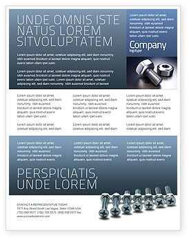 Screw-Nut and Bolt Flyer Template
