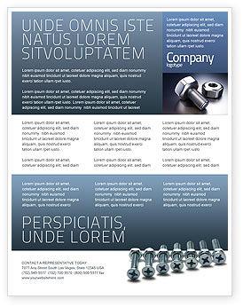 Utilities/Industrial: 螺母和螺栓传单模板 #02703
