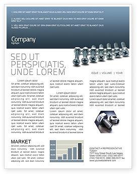 Utilities/Industrial: Modelo de Newsletter - parafuso-porca e parafuso #02703