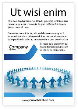 People: Round Dance Ad Template #02707