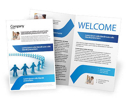 Round Dance Brochure Template, 02707, People — PoweredTemplate.com