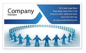 People: Round Dance Business Card Template #02707