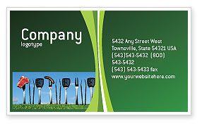 Food & Beverage: BBQ And Grill Tools Business Card Template #02709