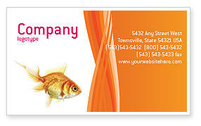 Agriculture and Animals: Goldfish Business Card Template #02710