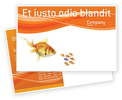 Agriculture and Animals: Plantilla de la postal - pez de colores #02710