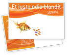 Agriculture and Animals: Goldfish Postcard Template #02710