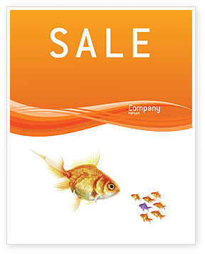 Agriculture and Animals: Goldfish Sale Poster Template #02710