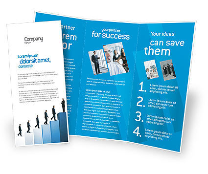 Successful career brochure template design and layout for Successful brochure design