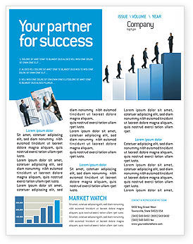 Business: Successful Career Newsletter Template #02715