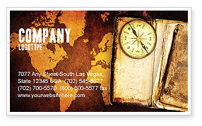 Global: Old Compass Business Card Template #02716