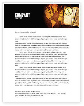 Old Compass Letterhead Template, 02716, Global — PoweredTemplate.com