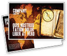 Global: Old Compass Postcard Template #02716
