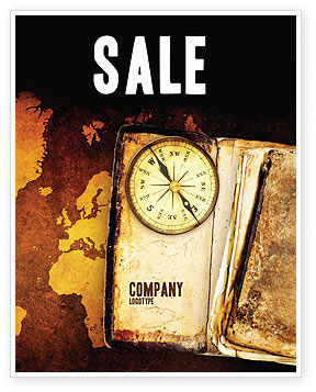 Old Compass Sale Poster Template