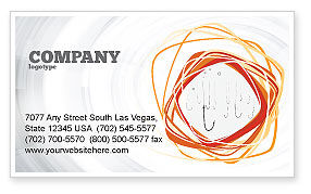 Hooks Business Card Template, 02722, Business Concepts — PoweredTemplate.com