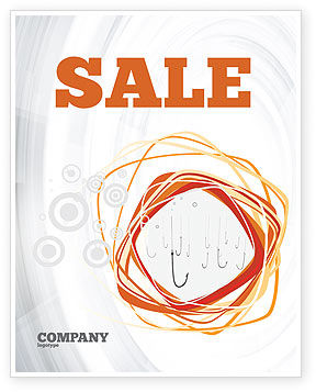 Hooks Sale Poster Template, 02722, Business Concepts — PoweredTemplate.com