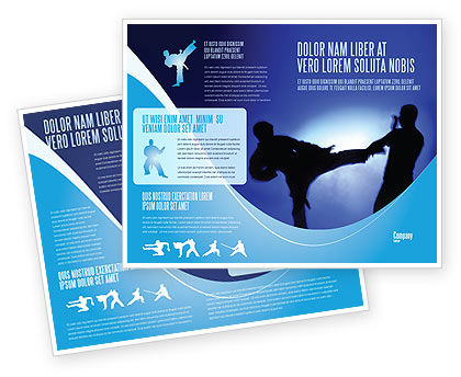 Martial Art Brochure Template, 02724, Sports — PoweredTemplate.com