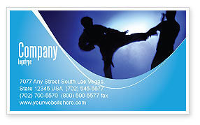 Martial Art Business Card Template, 02724, Sports — PoweredTemplate.com