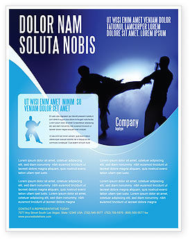 Martial Art Flyer Template, 02724, Sports — PoweredTemplate.com