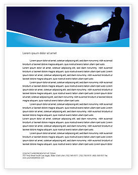 Martial Art Letterhead Template, 02724, Sports — PoweredTemplate.com