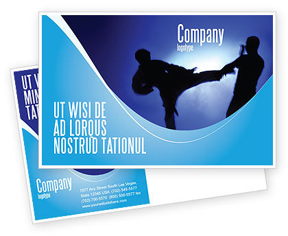 Martial Art Postcard Template, 02724, Sports — PoweredTemplate.com
