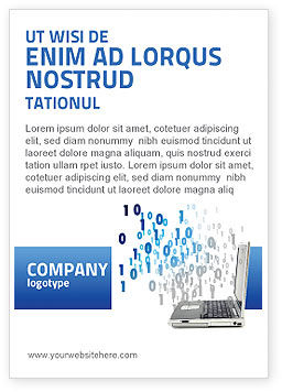 Technology, Science & Computers: Digits From Laptop Ad Template #02725