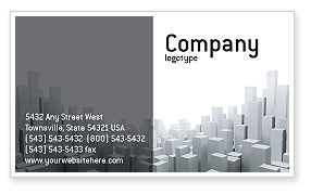 Construction: Megalopolis Business Card Template #02726