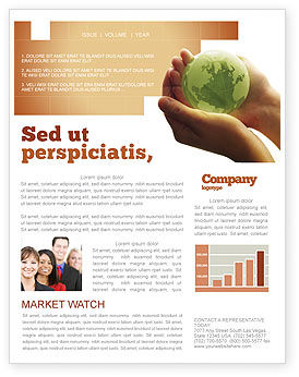 Global: World in Hands Newsletter Template #02727