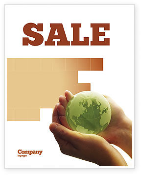 Global: World in Hands Sale Poster Template #02727
