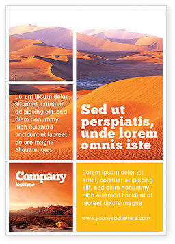 Red Desert Ad Template, 02728, Nature & Environment — PoweredTemplate.com