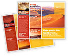 Nature & Environment: Red Desert Brochure Template #02728
