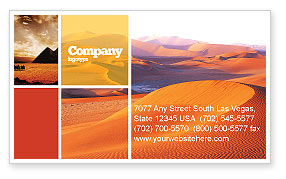 Nature & Environment: Red Desert Business Card Template #02728