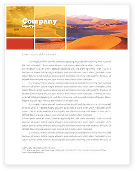 Nature & Environment: Red Desert Letterhead Template #02728