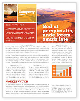 Nature & Environment: Red Desert Newsletter Template #02728