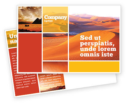 Nature & Environment: Red Desert Postcard Template #02728