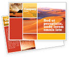 Nature & Environment: Red Desert Postcard Template #02728